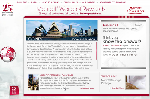 Marriott World of Rewards